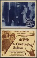 "Movie Posters:Mystery, The Crime Doctor's Gamble (Columbia, 1947). Title Lobby Card (11"" X 14"") and Crime Doctor's Man Hunt (Columbia, 1946). L... (Total: 2 Items)"