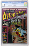 Golden Age (1938-1955):Horror, Astonishing #11 (Atlas, 1952) CGC FN- 5.5 Cream to off-whitepages....
