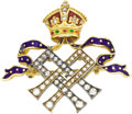 Jewelry, Gem-Set Queen Alexandra Royal Presentation Brooch. Early 20th century. Designed as two entwined initials AA for Qu... (Total: 2 Items)