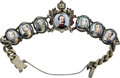 Estate Jewelry:Bracelets, Kaiser William Commemorative Silver Bracelet with PortraitMiniatures. German, stamped 800 . Designed as a silverbrac...