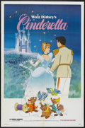 "Movie Posters:Animated, Cinderella (Buena Vista, R-1981). One Sheet (27"" X 41""). Animated...."