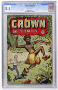 Golden Age (1938-1955):Adventure, Crown Comics #3 Cosmic Aeroplane pedigree (Golfing, Inc., 1945) CGC VF+ 8.5 Off-white pages....
