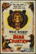"Movie Posters:Documentary, Bear Country (RKO, 1953). One Sheet (27"" X 41""). Documentary...."