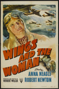 "Movie Posters:Drama, Wings and the Woman (RKO, 1942). One Sheet (27"" X 41""). Drama...."