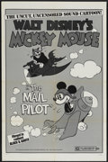 "Movie Posters:Animated, Mickey Mouse in The Mail Pilot (Buena Vista, R-1974). One Sheet(27"" X 41""). Animated...."