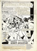 Original Comic Art:Splash Pages, Ramona Fradon and Vince Colletta - Freedom Fighters #5, Splash Page1 Original Art (DC, 1976)....