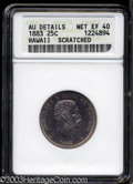 Coins of Hawaii: , 1883 Hawaii Quarter XF40 ANACS. ...