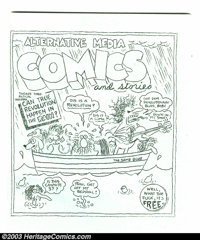 Alternative Media Comics and Stories nn (Rip Off Press, 1972). Here's a unique giveaway Underground that features an uno...