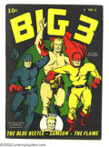 Golden Age (1938-1955):Superhero, Big 3 #2 (Fox, 1941) Condition: Apparent FN Slight (A). Scarcest of this title's seven-issue run. Color touch on spine, tape...