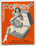 "Platinum Age (1897-1937):Miscellaneous, Burten's Follies V10#1 (Robert E. Baker, 1933). This is a ""WorldsFair"" issue of this sexy magazine from the heart of the Gr..."