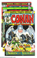 Bronze Age (1970-1979):Miscellaneous, Conan The Barbarian Group (Marvel, 1973-75) Condition: Average VF.This lot consists of issues #22, 25, 26, 30-34, 36-39, 42...(Total: 24 Comic Books Item)