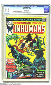 The Inhumans #1 (Marvel, 1975) CGC NM+ 9.6 Off-white pages. Gil Kane cover, George Perez interior art. Overstreet 2003 N...