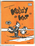 Bronze Age (1970-1979):Cartoon Character, Krazy Kat #1 (Street Enterprises, 1973). Early George Herrimanreprints....