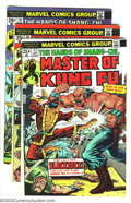 Bronze Age (1970-1979):Superhero, Master of Kung Fu Group (Marvel, 1974-81) Condition: Average VF. This lot consists of issues #17-24, 27, 29, 33, 35, 36, 38,... (Total: 43 Comic Books Item)