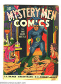 Mystery Men Comics #7 (Fox, 1940) Condition: Apparent GD/VG Slight (A). First Blue Beetle cover appearance. George Tuska...