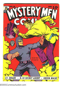 Mystery Men Comics #18 (Fox, 1941) Condition: Apparent VF- Slight (P). George Tuska art. Tear seals, glue at spine. Over...