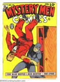 Golden Age (1938-1955):Superhero, Mystery Men Comics #19 (Fox, 1941) Condition: Apparent FN Extensive (A). Intro and first appearance of Miss X. George Tuska ...