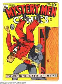 Mystery Men Comics #19 (Fox, 1941) Condition: Apparent FN Extensive (A). Intro and first appearance of Miss X. George Tu...