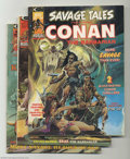 Bronze Age (1970-1979):Miscellaneous, Savage Tales #4-7 Group (Marvel, 1974) Condition: Average VF+.Featuring Conan and Ka-Zar. This lot consists of issues #4, 5...(Total: 4 Comic Books Item)