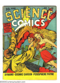 Golden Age (1938-1955):Science Fiction, Science Comics #5 (Fox, 1940) Condition: Apparent FN Moderate (P).Pieces added, spine split sealed, color touch. Overstreet...
