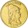 Early Quarter Eagles, 1796 $2 1/2 No Stars--Rim Damaged, Cleaned--ANACS. VF20 Details....