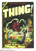Golden Age (1938-1955):Horror, The Thing! #17 (Charlton, 1954) Condition: VG+. Pre-Code horror inthe violent Charlton style. Steve Ditko cover. Classic pa...