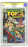 Bronze Age (1970-1979):Horror, Tomb of Darkness #21 (Marvel, 1976) CGC VG 4.0 Off-white pages.Atomic explosion cover. Signed by Stan Lee, 7/1/03. Overstre...