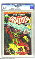 Bronze Age (1970-1979):Horror, Tomb of Dracula #12 (Marvel, 1973) CGC NM 9.4 White pages. Secondappearance of Blade. Gene Colan art. Overstreet 2003 NM 9....