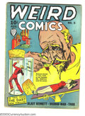Golden Age (1938-1955):Horror, Weird Comics #5 (Fox, 1940) Condition: Apparent VG+ Slight (A).Bondage/hypo cover. Intro Dart and sidekick Ace. Glue at spi...