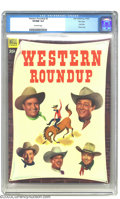 Golden Age (1938-1955):Western, Western Roundup #3 File Copy (Dell, 1953) CGC VF/NM 9.0 Off-white pages. Highest-graded copy yet by CGC for this issue. Over...