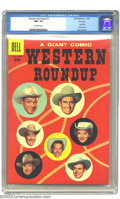 Silver Age (1956-1969):Western, Western Roundup #13 File Copy (Dell, 1956) CGC NM- 9.2 Off-white pages. Beautiful Dell Giant with colorful photo-cover. Over...