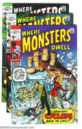 Silver Age (1956-1969):Horror, Where Monsters Dwell Group (Marvel, 1970) Condition: Average VF/NM.This lot consists of issues #1, 3, 4, 5, and 6. Overstre... (Total:5 Comic Books Item)