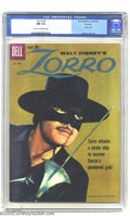 Silver Age (1956-1969):Adventure, Zorro #8 File Copy (Dell, 1960) CGC NM 9.4 Cream to Off-white pages. Highest-graded copy of this issue by CGC yet. Overstree...
