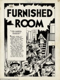 "Original Comic Art:Splash Pages, Bill Draut - Original Splash Page Art for Green Hornet #37, ""TheFurnished Room"" (Harvey, 1947). Thugs galore on this Golden..."