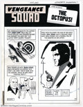Original Comic Art:Splash Pages, Pete Morisi - Original Art Splash Page for Vengeance Squad #3(Charlton, 1975). This page introduces three main characters f...