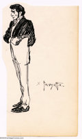 Original Comic Art:Sketches, Frank Frazetta - Original Sketches, Well-Dressed Gunman (undated). A nice pen and ink sketch of a well-dressed man holding a...