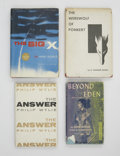 Books:First Editions, Three Science Fiction First Editions from the 1950s, One Signed,including: David Duncan. Beyond Eden.... (Total: 3 Items)