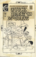 Original Comic Art:Covers, Ray Dirgo - Original Cover Art for Quick Draw McGraw #9 (Charlton,1972). Hanna Barbera's most formidable gunslinger bellys ...