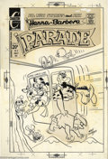 Original Comic Art:Covers, Ray Dirgo - Original Cover Art for Hanna Barbera Parade #8(Charlton, 1972). Two stats loose but present. This covercontain...