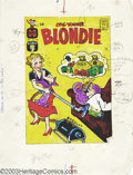 Original Comic Art:Covers, Paul Fung (attributed) - Original Cover Art for Blondie #154(Harvey, 1962). Blondie cleans up the cash while Dagwood snooze...