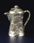 Silver Holloware, American:Chocolate Pots, An American Silver and Silver Gilt Chocolate Pot. Mermod & Jaccards, St. Louis, Missouri. Circa 1900. Silver and silver gi...