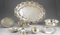 Miscellaneous: , GROUP OF MISCELLANEOUS SILVER PLATE. Group of miscellaneous silverplate includes: three serving trays, one large tray with ...(Total: 9 )