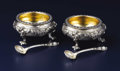 Silver Holloware, American:Open Salts, A Pair of American Silver Table Salts. Howard & Co., New York,New York. Circa 1886. Silver and silver gilt. Marks: HOWA...(Total: 4 Pieces)
