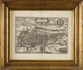 Prints:Old Master, A Selection of Three Engraved Maps. Georg Braunt and FranzHoogenberg. Circa 1572-1618. Uncolored Engraving with large mar...(Total: 3 )