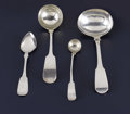 Silver Smalls:Other , A Group of Four Silver and Silver Plate Serving Pieces. Variousmakers, England and America. Eighteenth/Nineteenth Century...(Total: 4 )