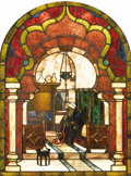 Art Glass:Other , A Pair of American Orientalist Stained Glass Windows. Unknownmaker, American. Circa 1870-1890. Stained and painted glass,...(Total: 2 )