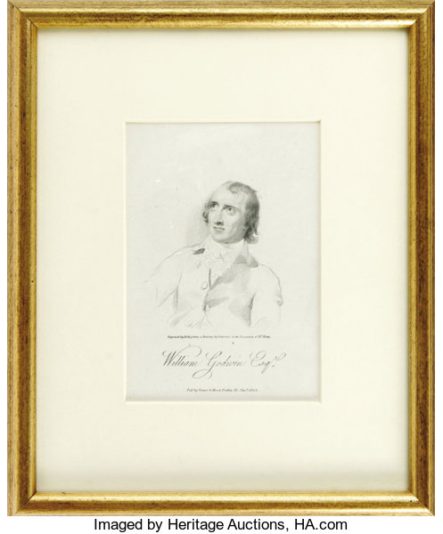 William Godwin Autograph Note Signed. Framed, clipped | Lot #25583 ...