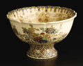 Ceramics & Porcelain, A Japanese Satsuma Bowl. Unknown maker, Kyoto, Japan. Early nineteenth century. Earthenware with polychrome enamel and gil...