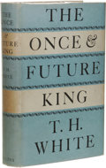 Books:First Editions, T. H. White: The Once & Future King. (London: Collins,1958), first edition, 677 pages, bound in blue cloth with giltti...