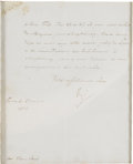 "Autographs:Non-American, Napoleon Bonaparte Manuscript Letter Signed, ""NP"", one page,7.25"" x 9"", Paris, March 27, 1813. In French and addressed ..."